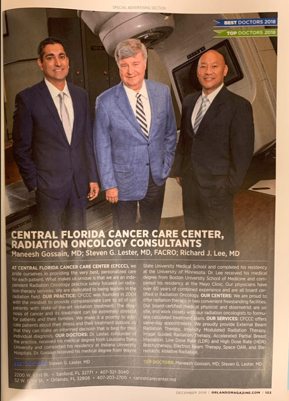 Orlando Magazine's 2018 Finest Doctors Issue Highlights Our
